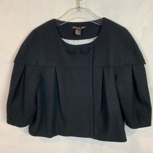 Central Park West Wool and Alpaca Cropped Jacket